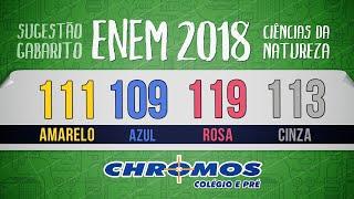 Gabarito ENEM 2018 CHROMOS - Prova Amarela: Questão 111   Química
