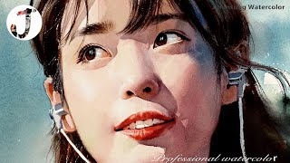 Watercolor portrait painting │ 인물수채화 │수채화 │아이유