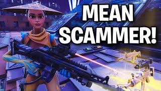 I met a Very MEAN SCAMMER!! 😞😧 (Scammer Get Scammed) Fortnite Save The World