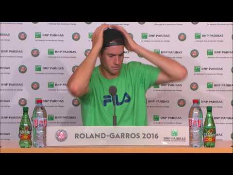 French Open: John Isner Post Match Interview