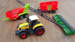 Трактор и техника для фермы Обзор игрушек машинок Видео для детей про машинки игрушки
