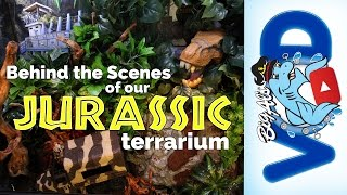 Behind the Scenes of our JURASSIC TERRARIUM! | Big Al's