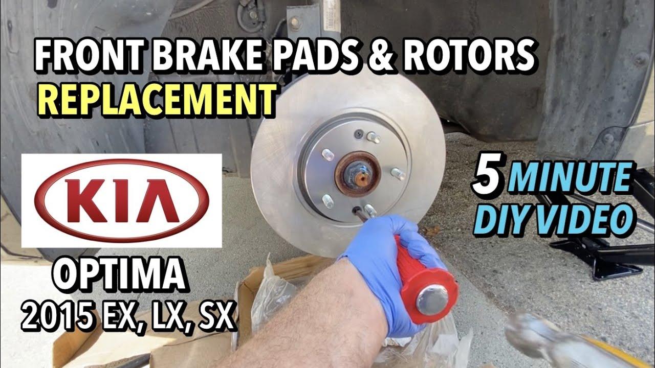 2015 Kia Optima EX Front Brake Pads & Rotors Replacement - 5 Minute DIY Video
