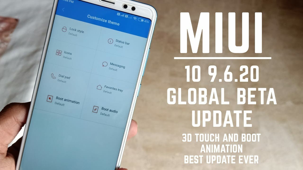 Miui 10 9 6 20 Global beta update for all xiaomi devices / New boot  animation changes etc / hindi