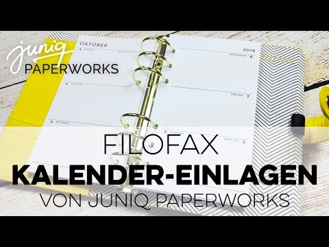 filofax kalender einlagen 2017 juniq paperworks youtube. Black Bedroom Furniture Sets. Home Design Ideas
