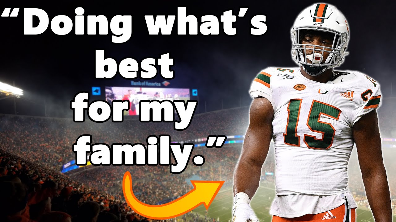 Gregory Rousseau Will NEVER Play Another Snap As A Miami Hurricane   Opts Out of 2020 Season