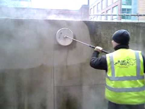 Cleaning concrete wall with mosmatic surface cleaner youtube for Indoor concrete cleaner
