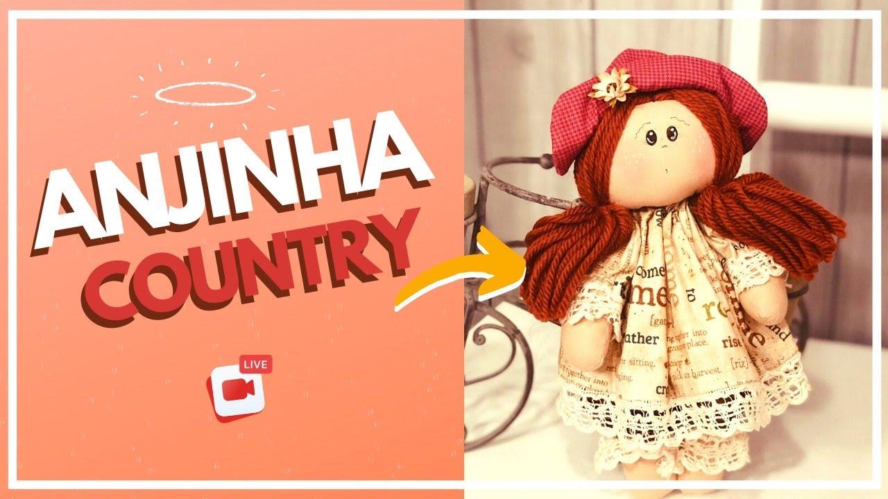 LIVE: BONECA ANJINHA COUNTRY LIA - MOLDE GRÁTIS    Drica TV