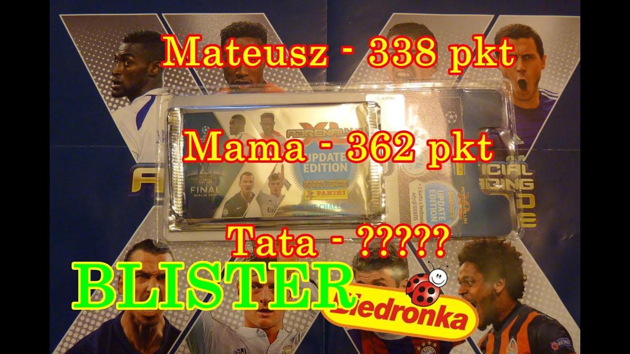 Blister Biedronka Champions League Konkurs Rodzinny Karty