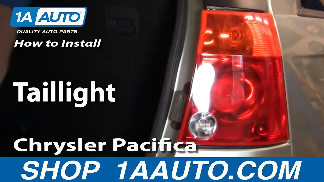 How To Replace Tail Lights 04 08 Chrysler Pacifica