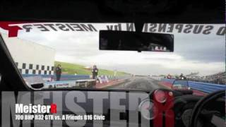 MeisterR Demo R32 Skyline GTR vs. B16 Civic with a 3.4 seconds Head Start!