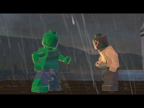 BANE VS KILLER CROC (BATTLE) - LEGO BATMAN 2 - YouTube