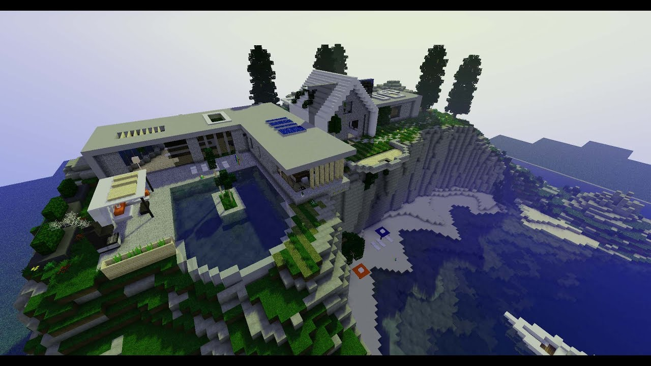 Ma plus belle maison moderne sur minecraft projet 4k for Belle maison minecraft