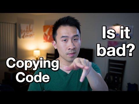 I Feel Like I'm Just Copying Code