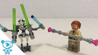 Lego Star Wars Obi Wan vs General Grievous Wheel Bike Lego Speed Build Review