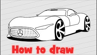 How to draw Mercedes Benz AMG Vision Gran Turismo