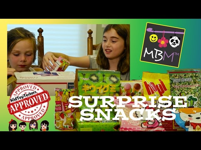 Surprise Snacks Box Challenge From KidToyTesters