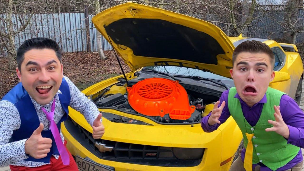 Mr. Joker on Opel PUT ROPE in HOOD of Sports Car VS Mr. Joe on Camaro 13+