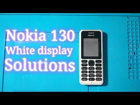 Nokia 130 white display solutions