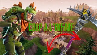 """DOUBLE COUP"" TO THE PIOCHE ON FORTNITE BATTLE ROYALE PS4!!!"