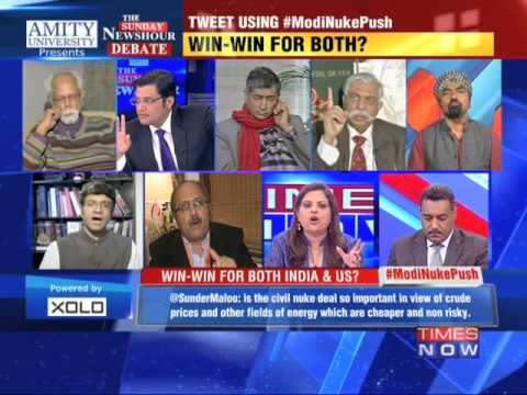 Nuclear deal in Obama-Modi discussion - The Newshour Debate (25th Jan 2015) - Part 1