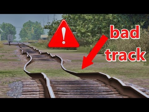 How to create a track in bad conditions in Train simulator 2018/17/16