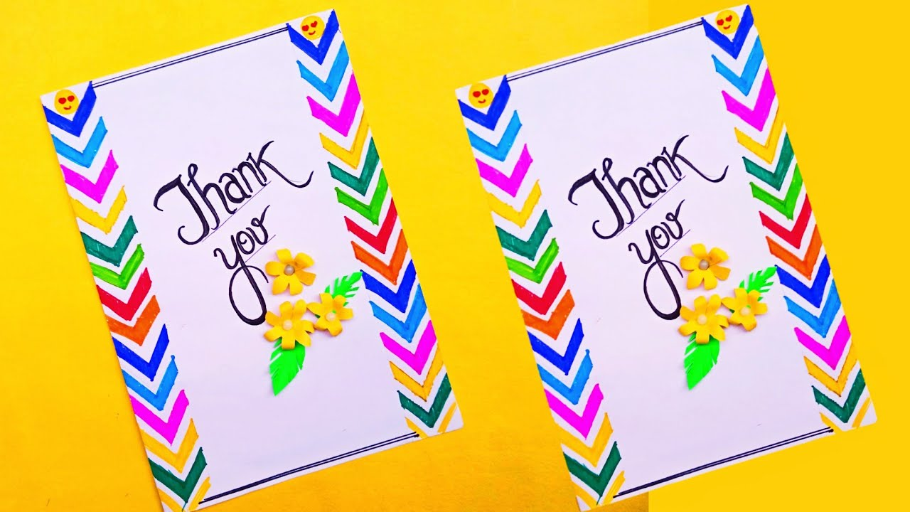 how to make thank you card  diy greeting card ideas  rb