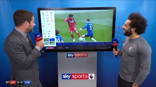 Mo Salah Reacts To His SCREAMER Against Chelsea  Super Sunday