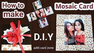 Mosaic Card Tutorial | Best birthday card handmade | Friendship Day Card |