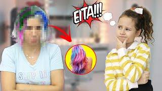 PINTEI o cabelo da mamãe SERÁ QUE DEU RUIM?  Valentina Pontes