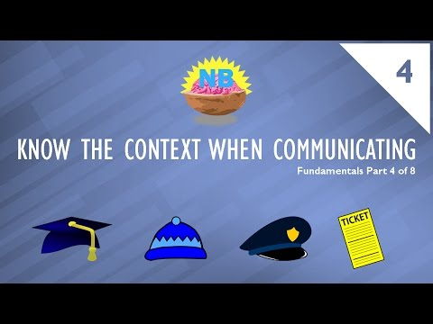 Know The Context When Communicating