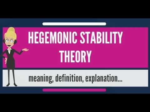 What is HEGEMONIC STABILITY THEORY? What does HEGEMONIC STABILITY THEORY mean?