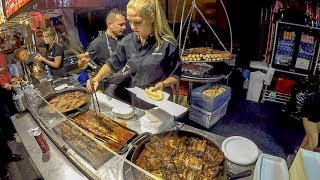 Best of Poland Street Food. 'Swieżonka', 'Bigos' and More Meat on Grill