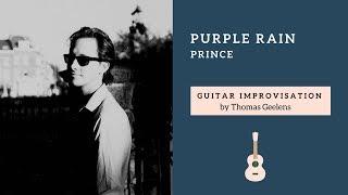 """Purple Rain Guitar Solo Tribute""  (Prince) by Thomas Geelens"