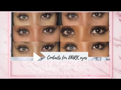 BEST COLORED CONTACTS FOR DARK EYES | DESIO LENSES | GLAMOURGAINS