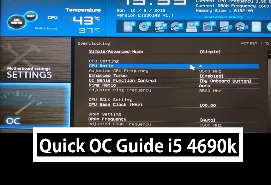 how to overclock a i5 processor