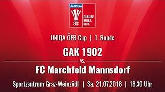 21.07.2018 | 18:30 Uhr  |GAK 1902 (GAK) vs. FC Marchfeld Mannsdorf (MAN)