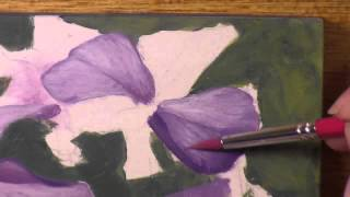 Purple Phlox in Acrylics speed paint