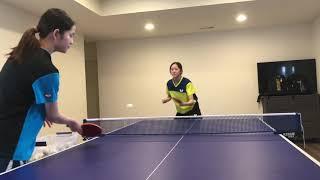 Multiball Drill With Rachel & Joanna Sung