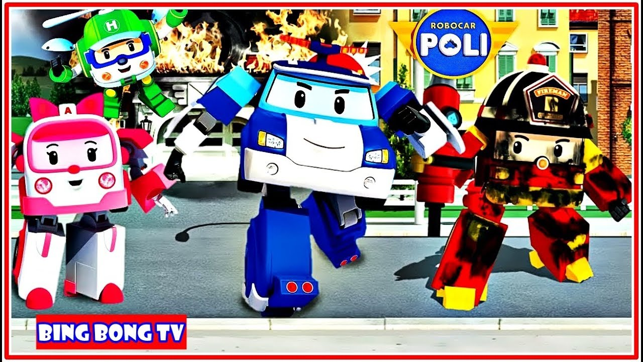 Download Robocar Poli  Rescue Town And City Games | Videos For Toddlers | BingBong TV