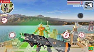 Epic Laser Gun In The City Iron Vegas Crime Simulator / Android GamePlay FHD screenshot 5