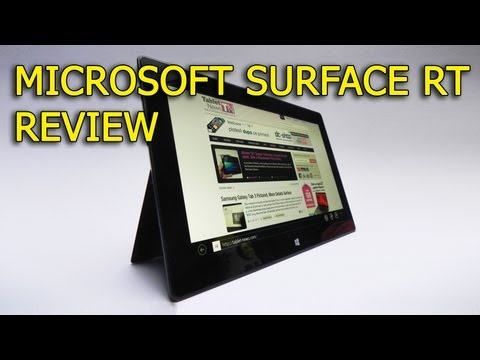 Microsoft Surface RT Review (Windows RT Tablet) - Tablet-News.com