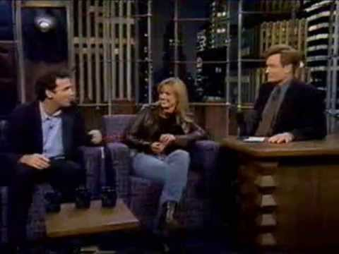 Courtney ThorneSmith and Norm Macdonald on Conan in 1997