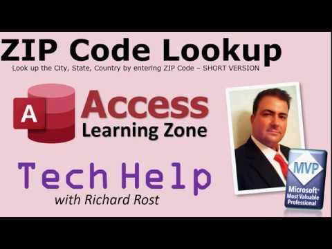 Microsoft Access ZIP Code Lookup Template - SHORT VERSION - TechHelp (Post, Postal Code)
