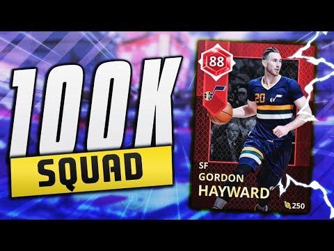BEST 100K BUDGET SQUAD! Ft. RUBY SPEED BOOSTING GORDON HAYWARD!! | NBA 2K18 MyTEAM Squad Builder