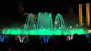 Достопримечательность Барселоны - магический фонтан (Barcelona, magic fountain of Montjuic)(музыка: Alex M.O.R.P.H. & Protoculture - Waking Up The Stars Автобусный тур