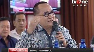 """ILC """"Putusan Jokowi KPK-Polri"""": Rohut Sitompul:Pengamat Jangan Menjelekkan Org Yg Tidak Dibela"""