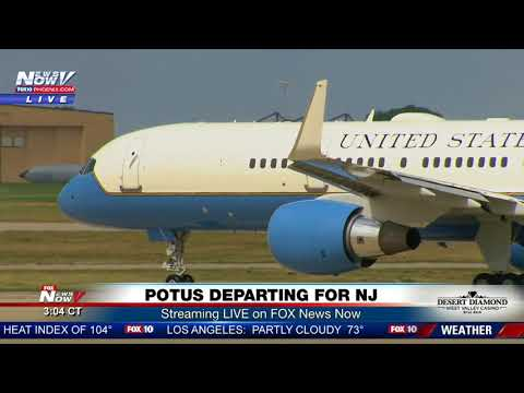 AIR FORCE ONE: Departs without First Lady to New Jersey for the weekend (FNN)