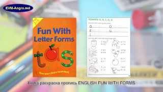 069888666.md Книга раскраска пропись English Fun With LETTER FORMS GA3127