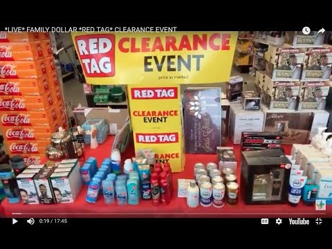 *LIVE* FAMILY DOLLAR *RED TAG* CLEARANCE EVENT